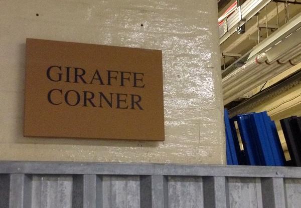 Giraffe Corner, Natural History Museum