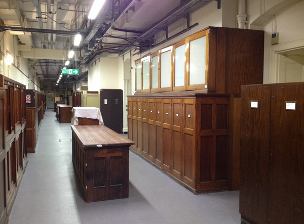 Natural Hitory Museum old wooden specimen cabinets