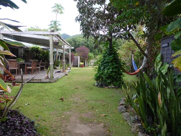 Aremango Guesthouse garden, Rarotonga