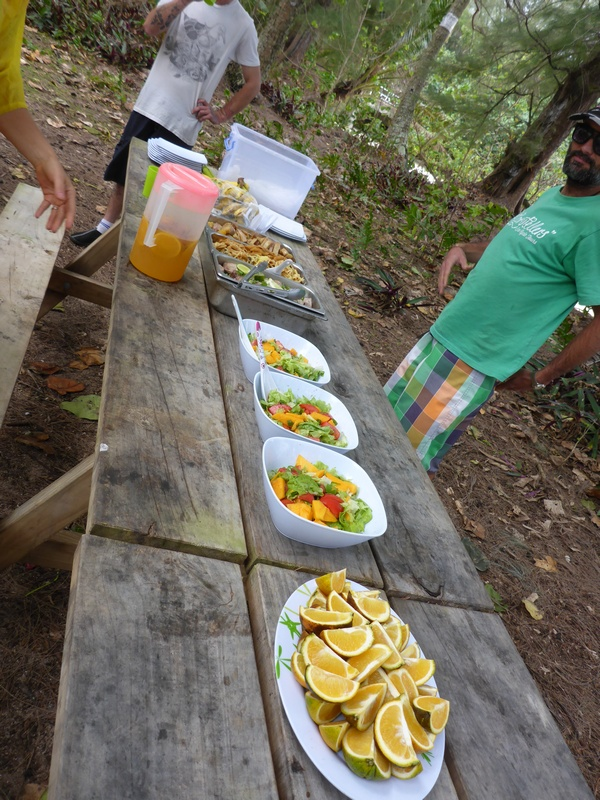 Storytellers cycle tour lunch, Rarotonga