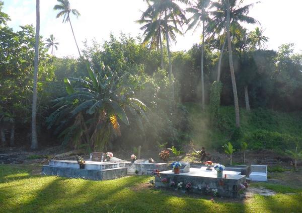 Aitutaki family graves