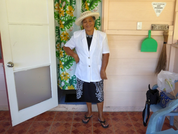 Mama in her Sunday best, Vaikoa, Aitutaki