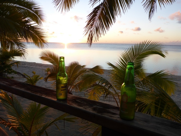 Beer o'clock at Vaikoa, Aitutaki