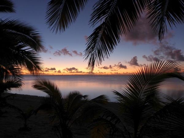 Sunset at Vaikoa, Aitutaki