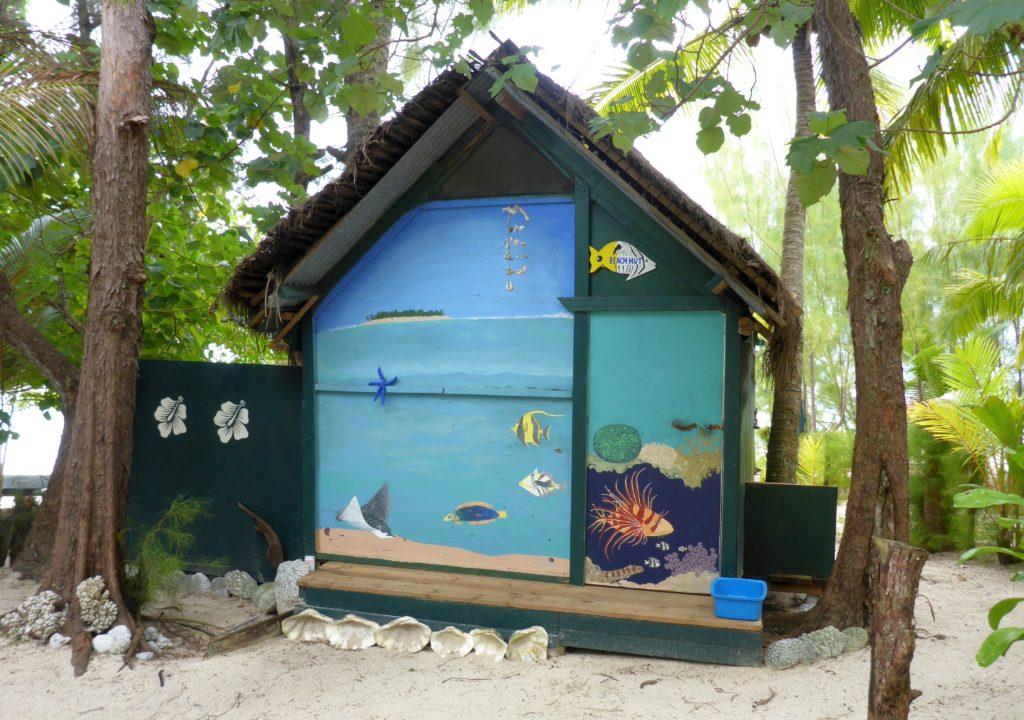 Beach hut mural, Matriki (Aitutaki)
