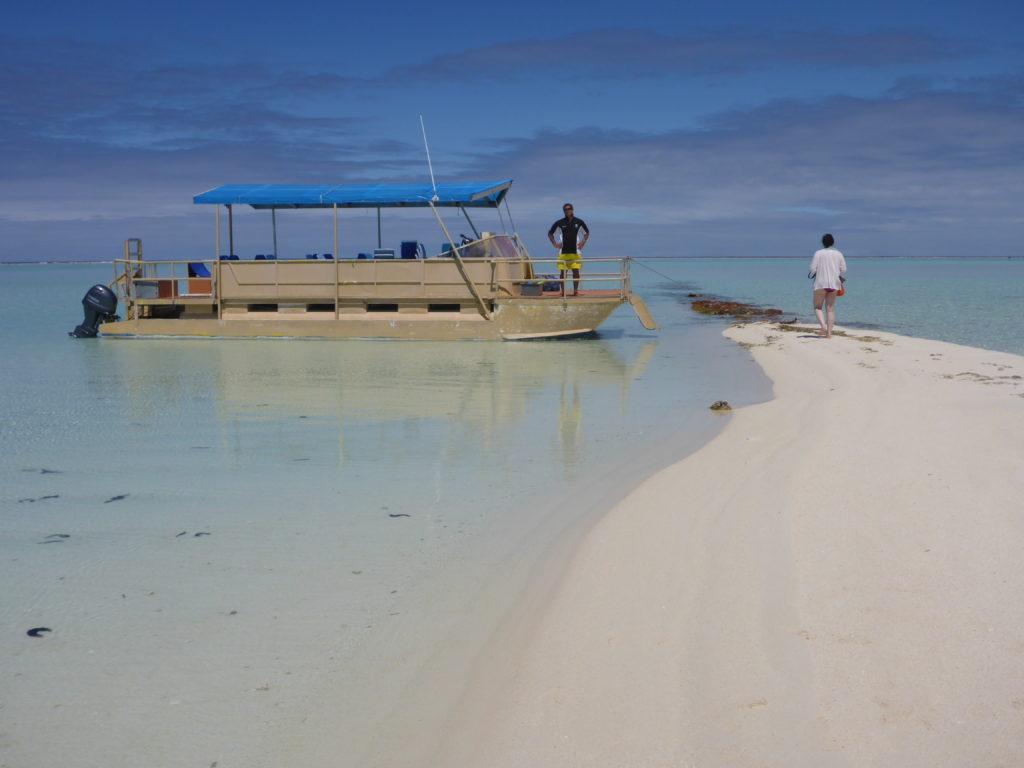 Puna's boat, lagoon trip, Aitutaki