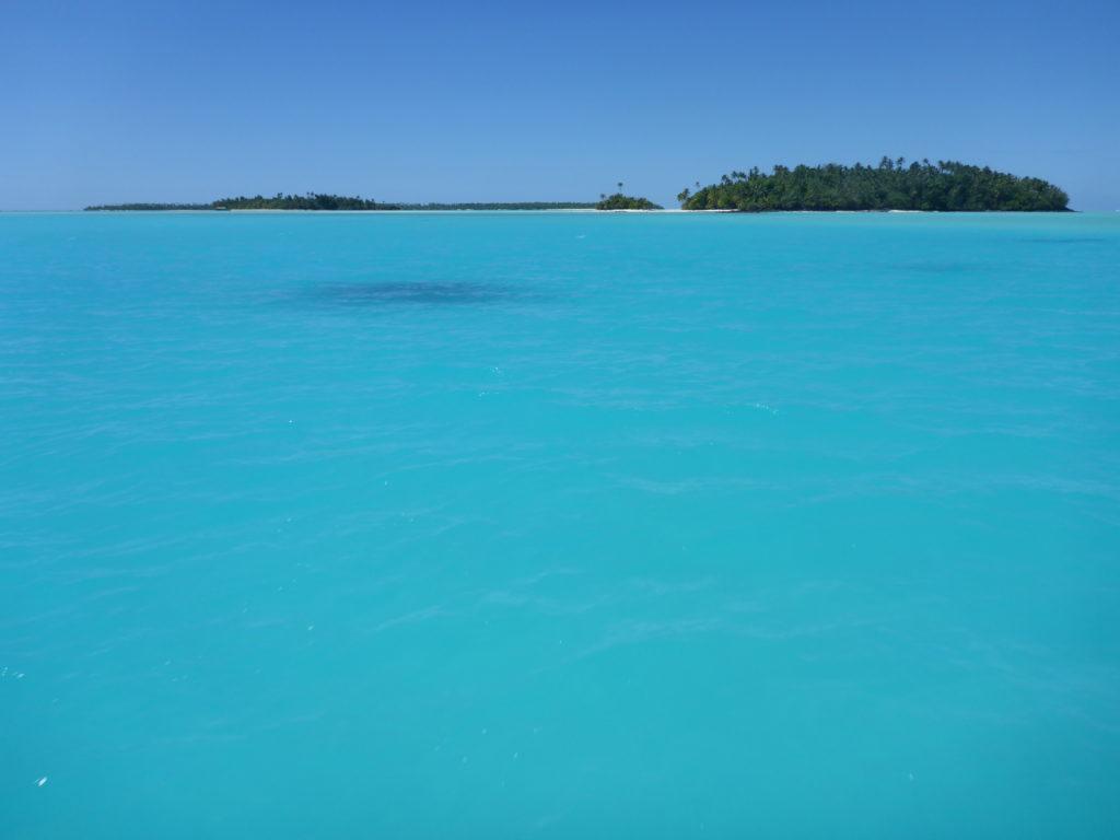 The blue lagoon... Aitutaki, looking towards Maina